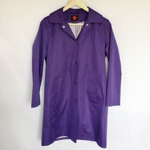 Gallery purple raincoat